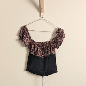 I.AM.GIA leoprard Rhia corset top